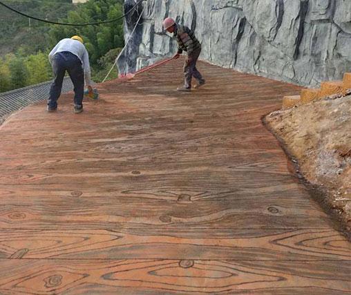 路面木纹施工